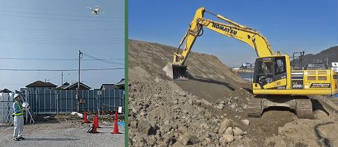 作業効率が飛躍的に向上、i-Constructionの推進